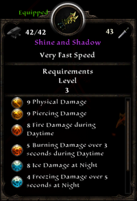 Shine and shadow stats