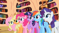 Main ponies surprised by Celestia's decision S2E3