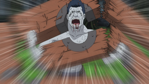 Kisame breaks free