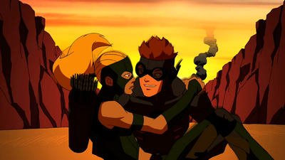 Kid Flash and Artemis escape