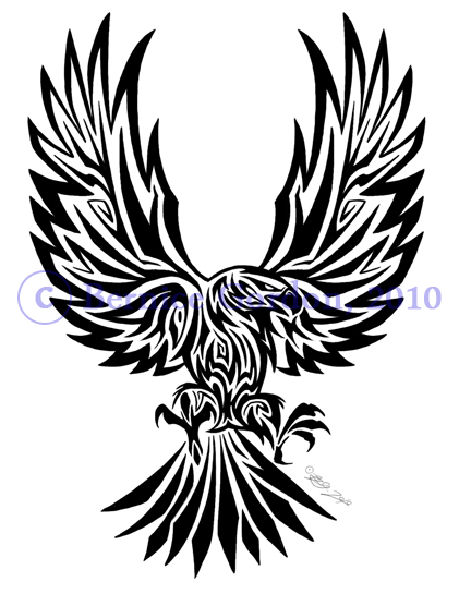 Image eagle tribal tattoo by tarkheki for Tribal eagle tattoos