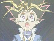 Yugi transforms into Yami Yugi