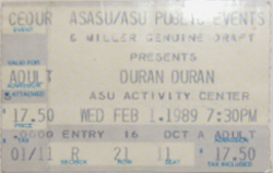 Ticket ASU Activity Center, Tempe, AZ, USA wikipedia duran duran