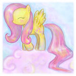 Squidgy Fluttershy on Cloud by RipslashRoulette
