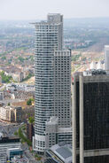 Frankfurt Am Main-Westend Tower-Ansicht vom Maintower