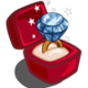 Winter Wonderland Gold Diamond Unwither Ring-icon