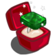 Winter Wonderland Platinum Emerald Unwither Ring-icon