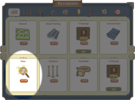 Inventory Clues-Screenshot