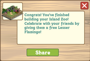 Island Zoo Finished Share Reward