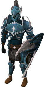 Saradomin armour set (lg) equipped