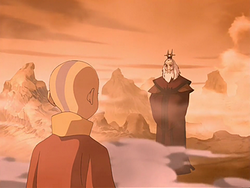 Aang meets Roku
