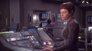 T&#39;Pol at the science station in 2151