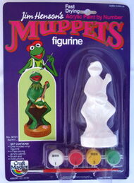Craft master 1982 paint figurine kermit