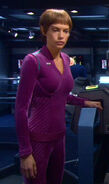 T&#39;Pol&#39;s casual uniform, purple