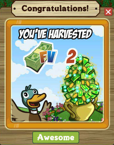 Money Plant Harvested Notification