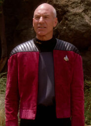 Picard jacket leather shoulders