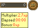 Bonus XP Weekend 2011 interface