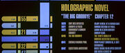 Holosuite program display on Enterprise E