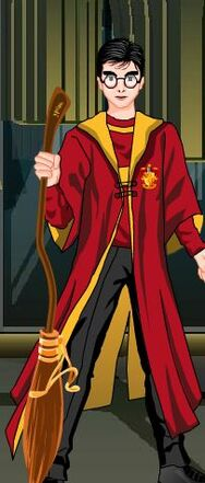 Me in Quidditch Robes