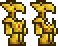 Terraria = Gold Armor Sets Male + Female