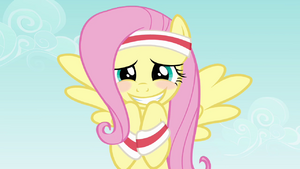 Fluttershy blushing smile S2E22