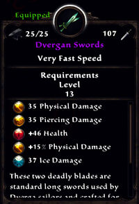 Dvergan swords stats