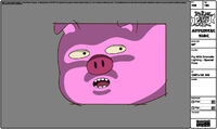 Pig dramatic lighting