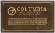 Columbia dedication plaque