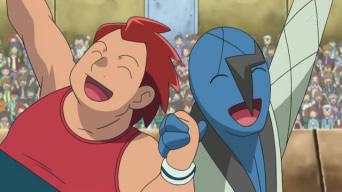 [Express] Pokémon: Best Wishes! EP735_Stephan_celebrando_junto_a_Sawk