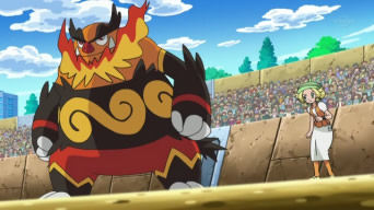 [Express] Pokémon: Best Wishes! EP735_Emboar_y_Bel