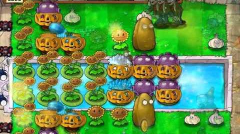 Plants vs zombies tutorial - How to put the ladders for survival endless setups ( Test v0