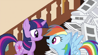 Rainbow Dash looking at Twilight S2E23