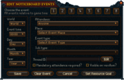 Clan noticeboard-admin interface