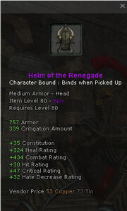 Helm of the renegade