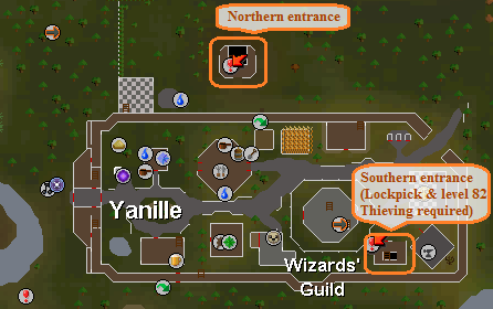 Yanille dungeon entrances