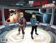 Star Trek - Legion of Super-Heroes issue 1 cover RIB