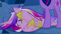 Princess Cadance shielding herself S2E26