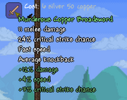 Murderous Copper Broadsword