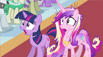 Princess Cadance & Twilight gasp S2E26