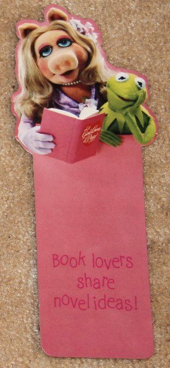 Hallmark 1980 bookmark piggy kermit