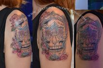 Skull tattoo mexican