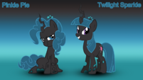 Pinkie Pie x Twilight Sparkle (changelings)