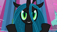 Queen Chrysalis smiling S2E26