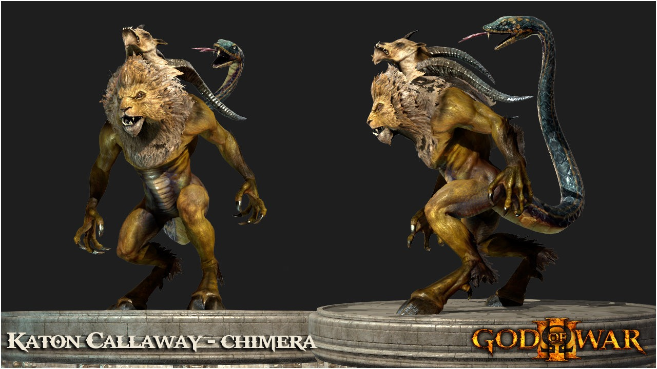 Chimera - God of War Wiki - Ascension, Ghost of Sparta, Kratos, Weapons, Boss...