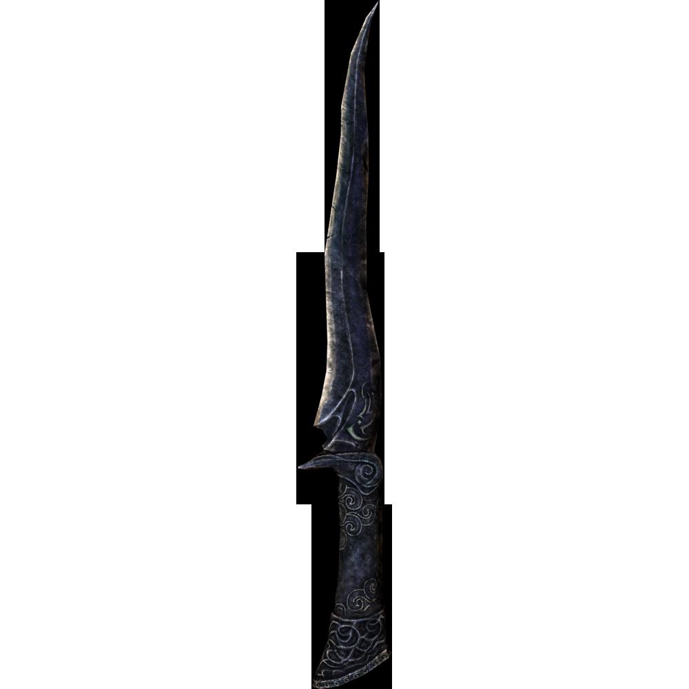 Качественный реплейсер одноручного эбонитового клинка для skyrim
