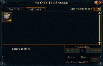 Ye Olde Tea Shoppe stock