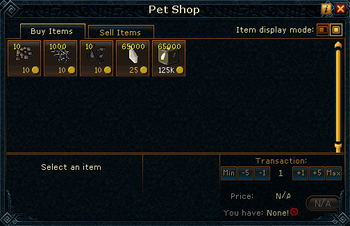 Pet Shop stock