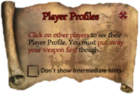 Scroll PlayerProfiles