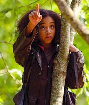 Rue points out the nest