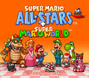 Super Mario All-Stars + Super Mario World - Title Screen